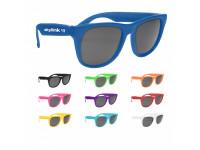RETRO ! Baja Neon Rubber Sunglasses- Solid Color Frames