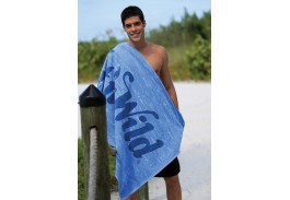 35″ X 60″ Blue Distressed Stock Beach Towel
