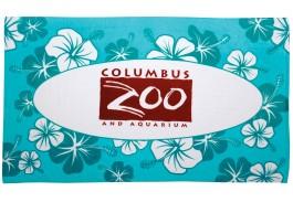 35″ X 60″ Turquoise Hibiscus Stock Beach Towel