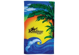 35″ X 60″ Beach Scene Stock Design Beach Towel