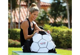 "20"" x 20"" Soccer Ball Shaped Sport Towel"