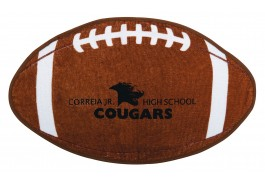 "20"" x 12.5"" Football Shaped Sport Towel"