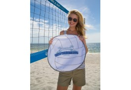 "20"" x 20"" Volleyball Shaped Sport Towel"