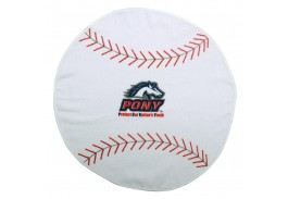 "20"" x 20"" Baseball Shaped Sport Towel"