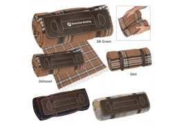 "51"" x 69"" Tartan Roll-Up Blanket"