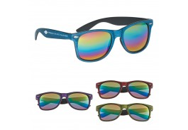 Woodtone Mirrored Malibu Retro Sunglasses