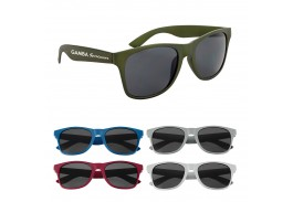 Matte Finish Malibu Retro Sunglasses