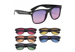 Classic Black Gradient Malibu Retro Sunglasses