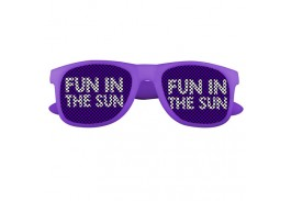 Color Changing Logo Lens Sunglasses