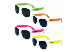 Pre-School Kids White Frame Classic Neon Sunglass Assortment