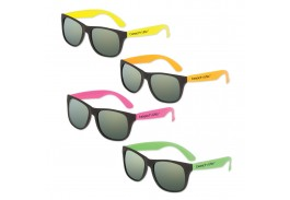 Neon Classic Mirror Lens Sunglass Assortment