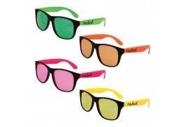 Classic Black Frame & Neon Sunglass Assortment