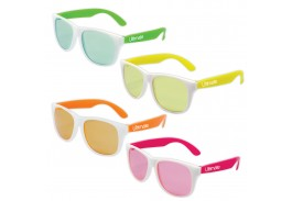Classic White Frame & Neon Sunglass Assortment