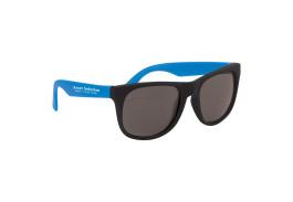 Black Frame Rubberized Sunglasses
