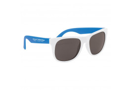 White Frame Rubberized Sunglasses