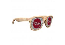 Logo Lens Light Wood Tone Miami Sunglasses