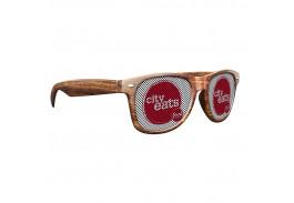 Logo Lens Medium Wood Tone Miami Sunglasses