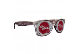Logo Lens Dark Wood Tone Miami Sunglasses
