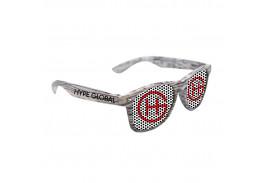 Logo Lens White Wood Tone Miami Sunglasses