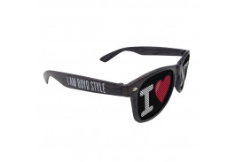 OUT OF STOCK - Logo Lens Charcoal Wood Tone Miami Sunglasses
