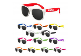 Assorted White Frame Neon Classic Sunglasses