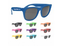 RETRO ! Baja Neon Rubber Sunglasses- Solid Color Frames