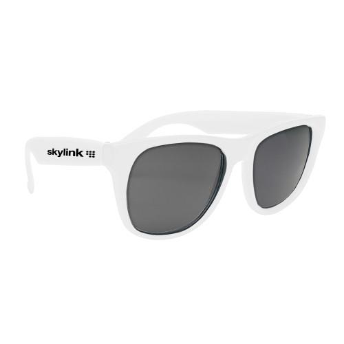 Promotional Retro Baja Neon Rubber Sunglasses Solid Color Frames