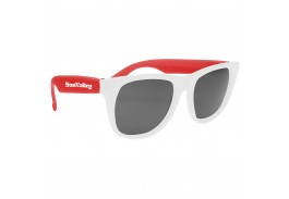 Baja Neon Rubber Sunglasses with White Frames