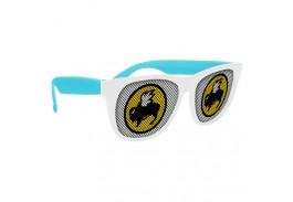 White Frame Logo Lens Sunglasses