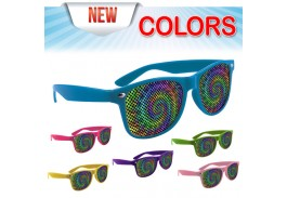 Brightly Colored Miami Logo Lens Sunglasses