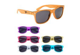 Metallic Malibu Retro Sunglasses