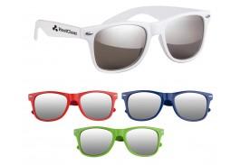 Silver Mirrored Malibu Retro Sunglasses