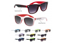Two-Tone Malibu Retro Sunglasses