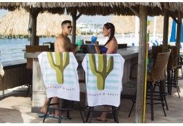 "30"" x 60"" Jewel Lightweight White Beach Towel"